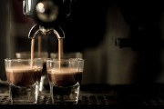 an espresso machine brewing espresso shots